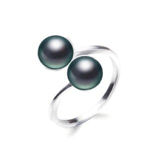 Jewelry - Sterling Black Freshwater Pearl Ring